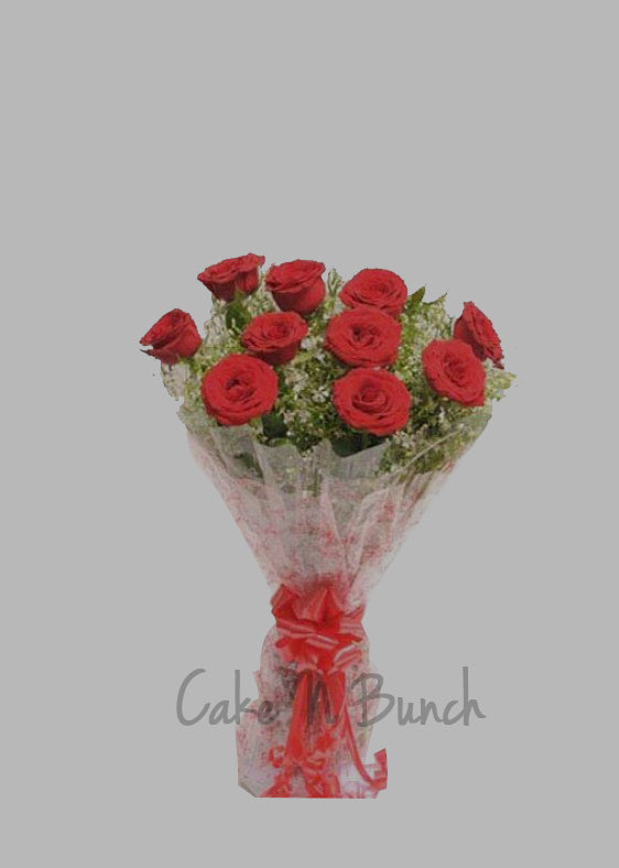 Cute Wishes Roses Bouquet