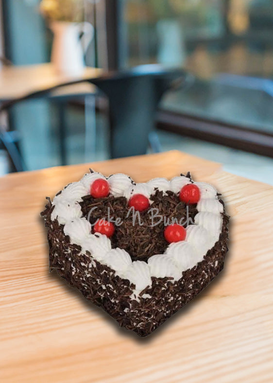 Rich Heart Shape Blackforest Cake