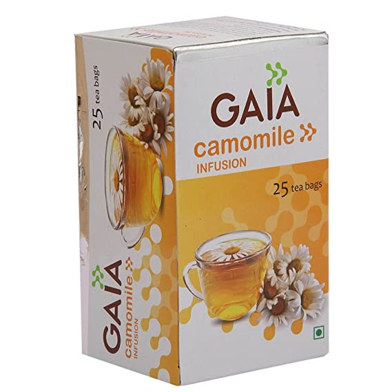 Gaia Camomile Flavour Green Tea Bags   25 Units