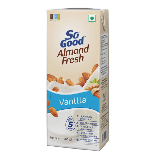 So Good Almond Fresh Milk Vanilla   1 LTR