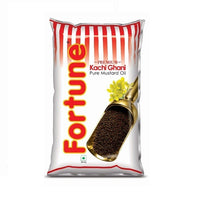 Fortune Premium Kachi Ghani Pure Mustard Oil Pouch   1 LTR