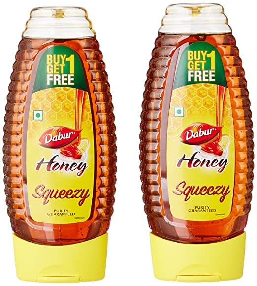 Dabur Honey Squeezy (Buy 1 Get 1 Free )   2 X 400 GM