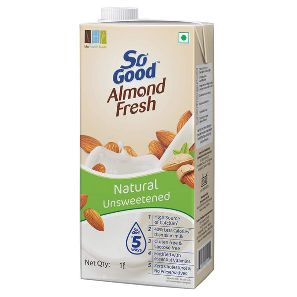 So Good Almond Fresh Nutty & Delicious Almond Milk Natural   200 ML