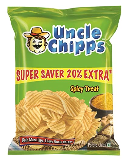 Uncle Chipps Spicy Treat   55 GM