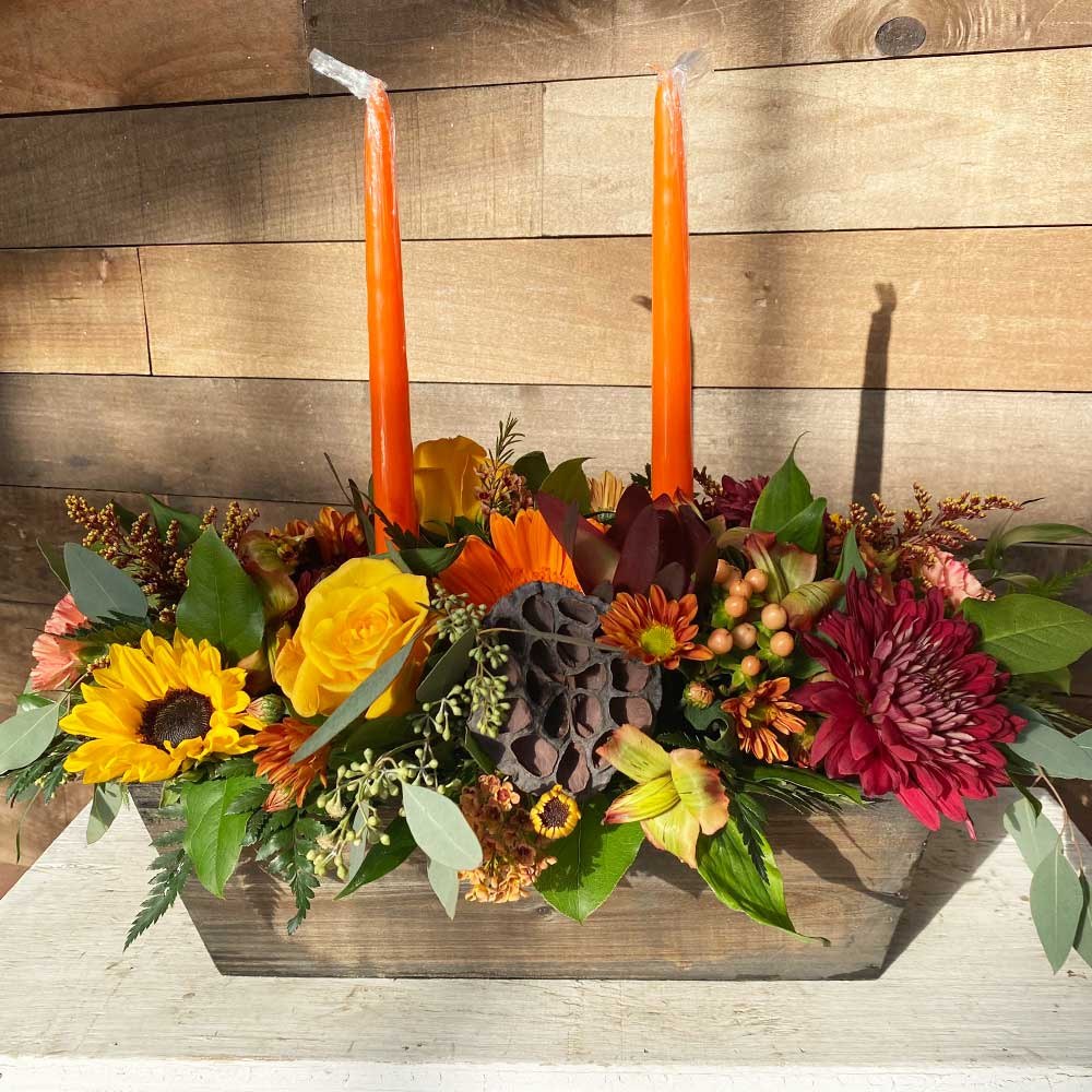 Deluxe Rustic Centerpiece with Candles