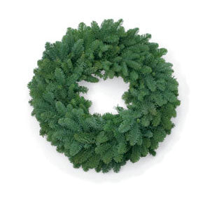 Fresh Undecorated Noble Fir Wreaths