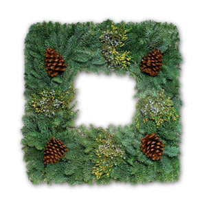 Fresh Undecorated Mixed Wreaths