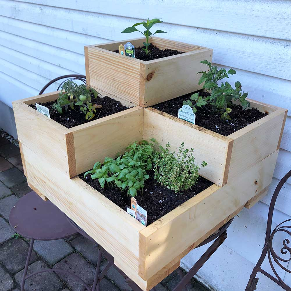 Wooden Raised Bed Planter