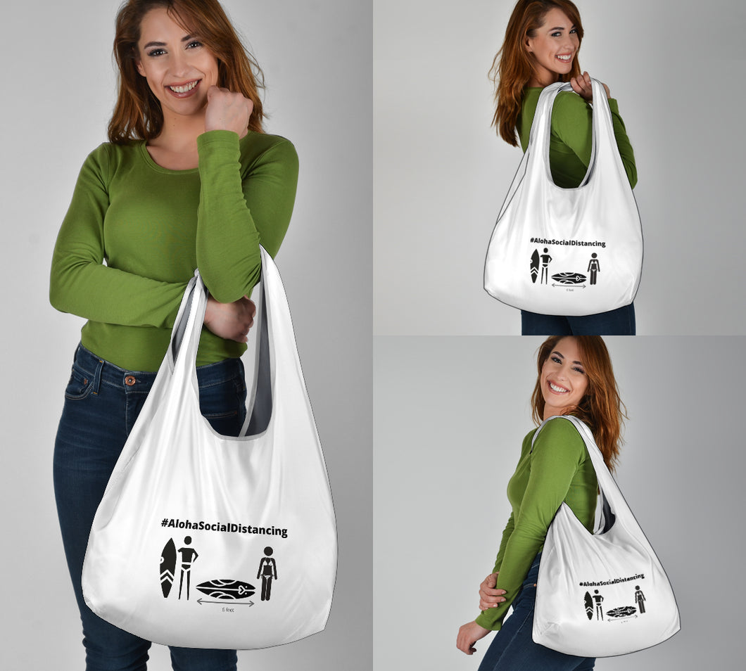 Grocery Bag 3-Pack #AlohaSocialDistancing Series - ALOHA GIRL STYLE