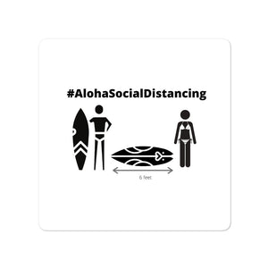 Bubble-free stickers #AlohaSocialDistancing Series - ALOHA GIRL STYLE