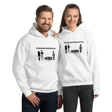 Load image into Gallery viewer, Unisex Hoodie #AlohaSocialDistancing Series White/Glay - ALOHA GIRL STYLE