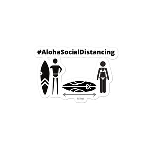 Bubble-free stickers Border Version #AlohaSocialDistancing Series - ALOHA GIRL STYLE