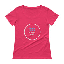 画像をギャラリービューアに読み込む, Ladies' Scoopneck T-Shirt ALOHA GIRL STYLE WAVE Various Colors - ALOHA GIRL STYLE