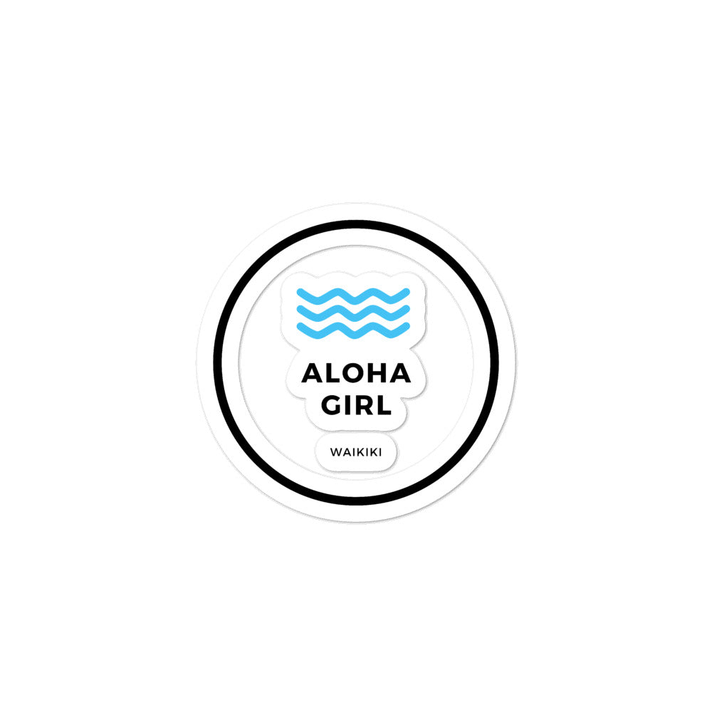 Bubble-free stickers Aloha Girl Style Wave Border Version - ALOHA GIRL STYLE