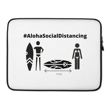 Load image into Gallery viewer, Laptop Sleeve #AlohaSocialDistancing White - ALOHA GIRL STYLE