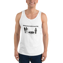 Load image into Gallery viewer, Unisex Tank Top #AlohaSocialDistancing Series White - ALOHA GIRL STYLE