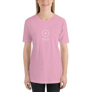 Short-Sleeve Unisex T-Shirt ALOHA GIRL STYLE Simple Logo Various Colors - ALOHA GIRL STYLE