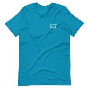 Short-Sleeve Unisex T-Shirt #AlohaSocialDistancing Series Chest Various Colors - ALOHA GIRL STYLE