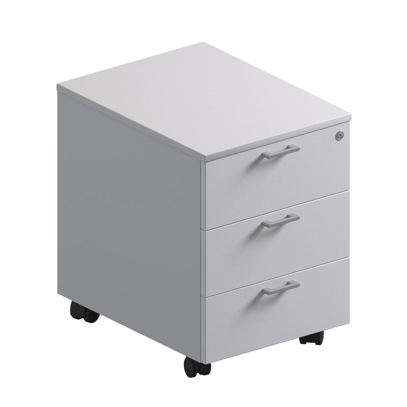 3 Drawer Pedestal - Melamine