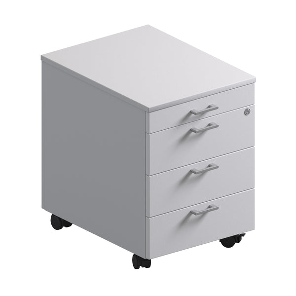 4 Drawer Pedestal - Melamine