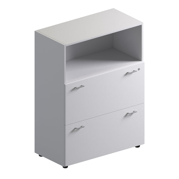 Double Unit Semi Closed Storage Cabinet - Low Height