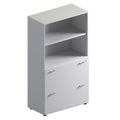 Double Unit Semi Closed Storage Cabinet -Mid Height