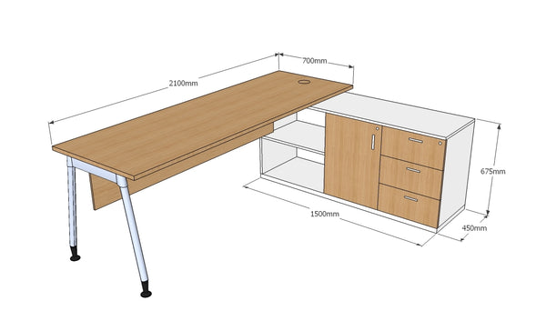 Crossover Cabin Table - with Side Unit