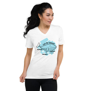 Call Me Ishmael Moby Dick V-Neck T-Shirt