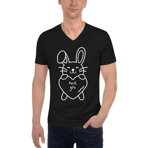 F*ck You Bunny Unisex Short Sleeve V-Neck T-Shirt