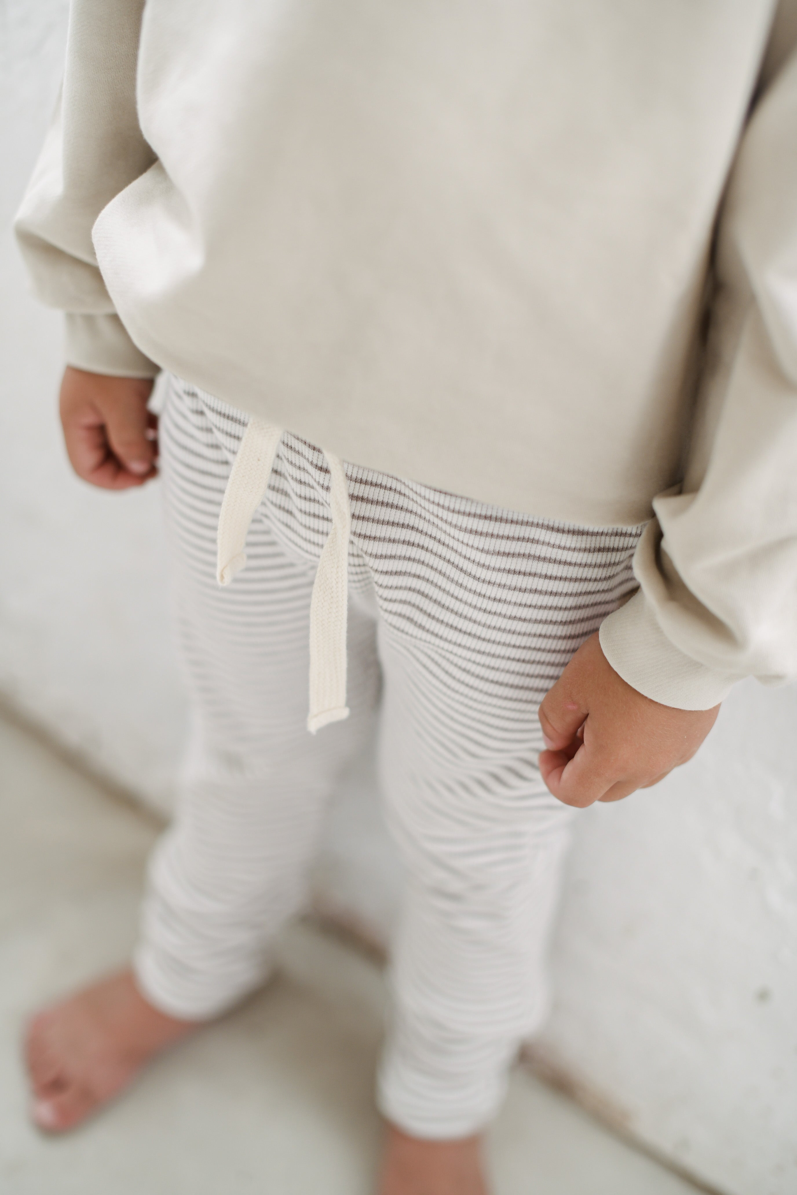 RIB LEGGINGS | MOCCA STRIPES