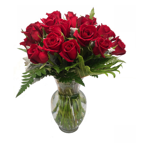 Ginger Vase of 24 Roses