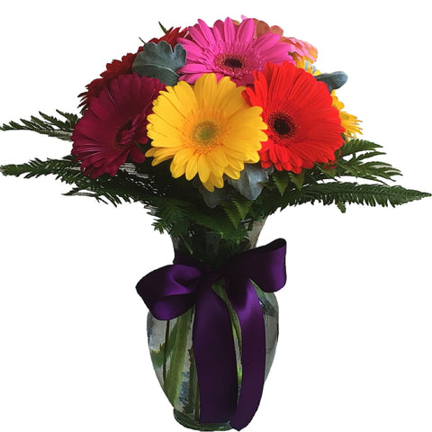 Ginger Vase Arrangement of Gerberas