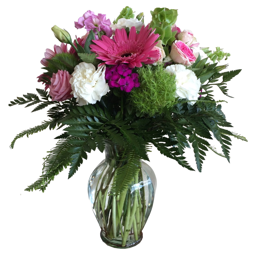 Ginger Vase Arrangement of Mixed Flowers