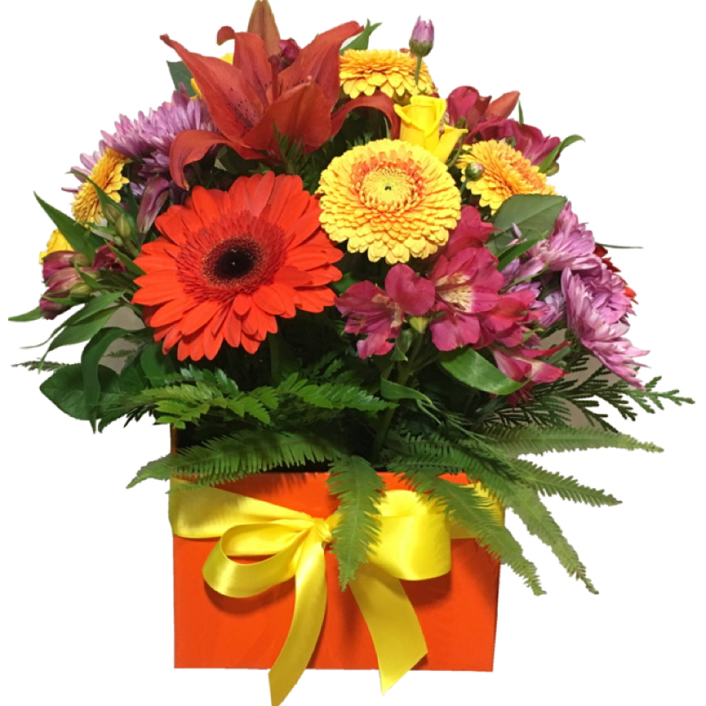 Box Arrangement of Mixed Flowers - Large