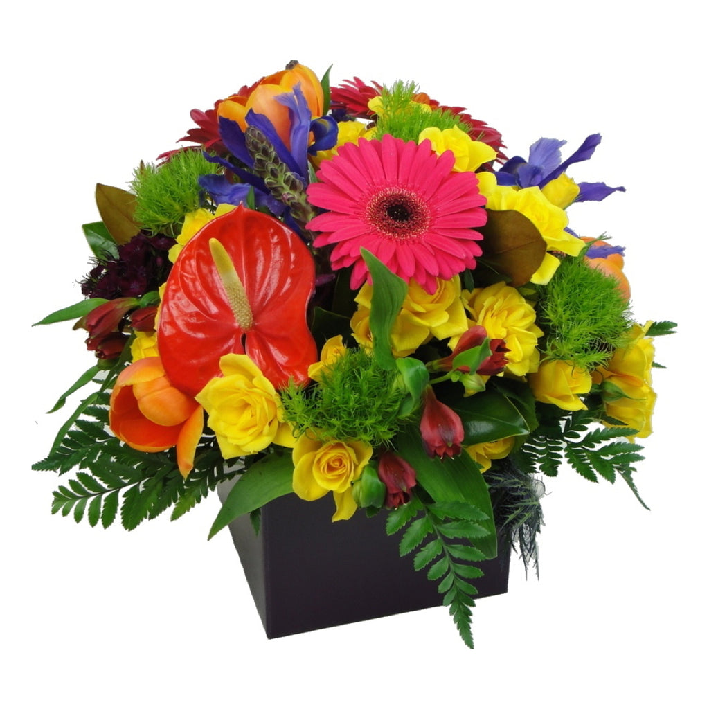 Box Arrangement of Mixed Flowers - Medium