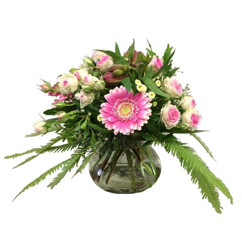 Posy Vase Arrangement of Mixed Flowers
