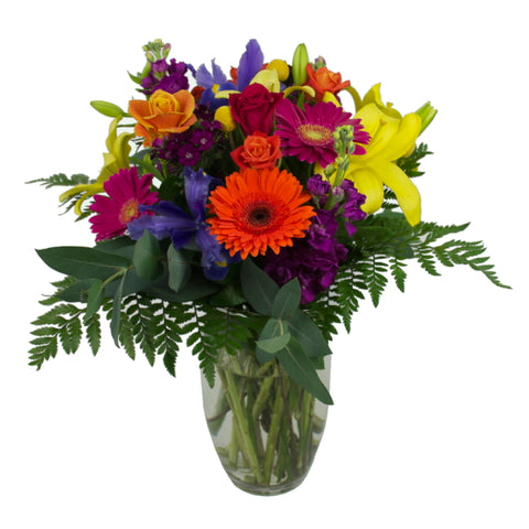 Vase Arrangement of Mixed Flowers