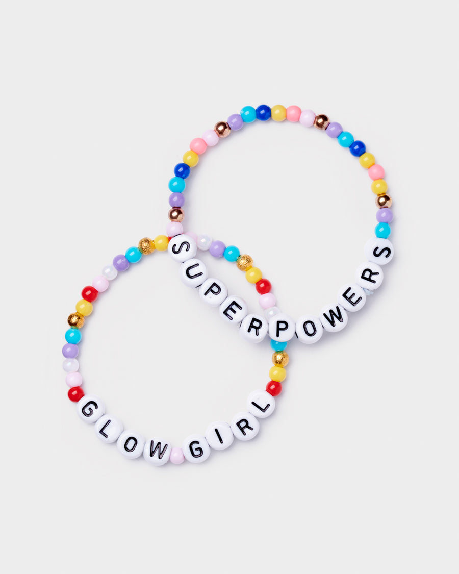 Glow Girl Bead Bracelet Set