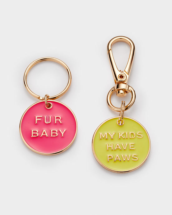 Dog gift Dog charm set Fur Baby My kids have Paws