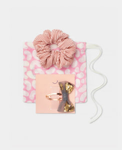 Girls Gift Set Tulle bow hair clip Scrunchie
