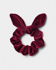 Ribbed Bow Scrunchie
