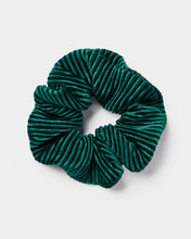 Load image into Gallery viewer, Green Crinkle Velvet Scrunchie
