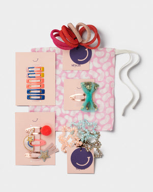 girls party hair gift set