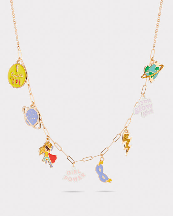 Girls gift Charm necklace Glow Girl Girl Power