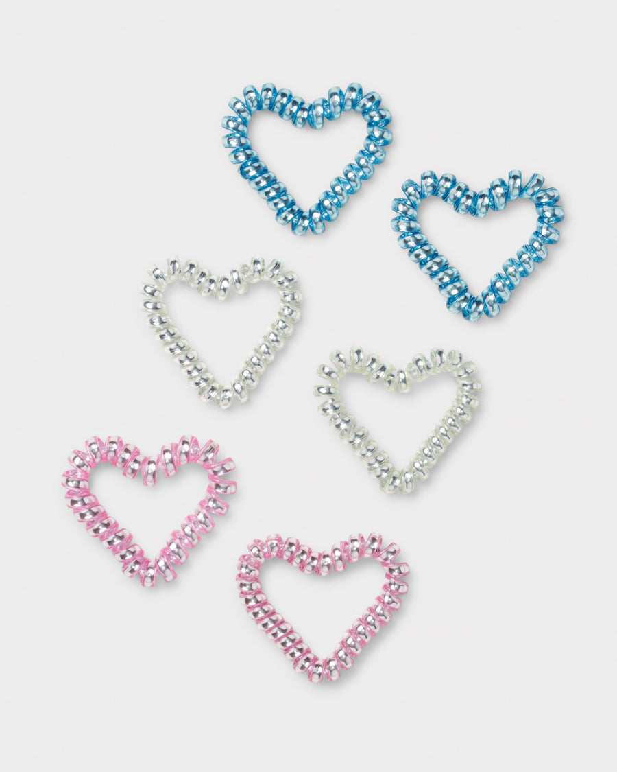 Heart spiral hairbands