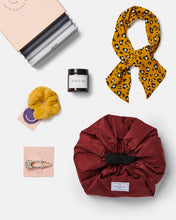 Load image into Gallery viewer, Womens Gift Box Makeup bag Candle Head scarf Fur scrunchie Spotty clip