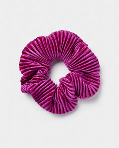 Purple Crinkle Velvet Scrunchie