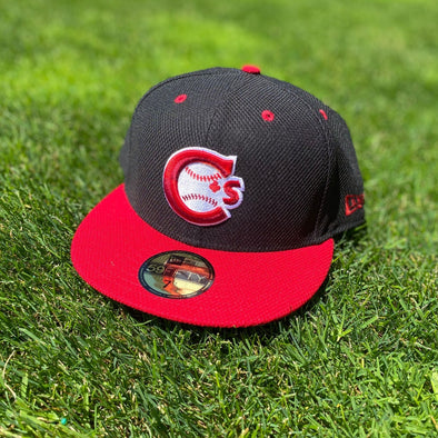 Vancouver Canadians New Era Alternate Authentic Collection On-Field Black and Red