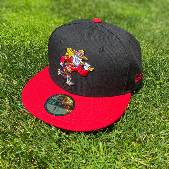 Vancouver Canadians New Era Mountie Black with Red Brim