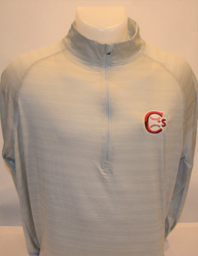 1/4 Zip Columbia Pullover Grey